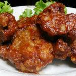 豚肉の「味噌ケチャップソース絡め」