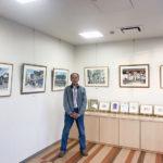 渡辺司さん 「街角スケッチ展」を開催