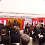 松川雨水貯留施設建設工事 安全祈願祭と起工式を挙行