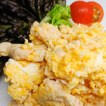 鶏挽き肉スクランブルエッグ