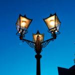 ガス燈(富山市・松川べり)