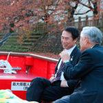 和歌山市長が松川遊覧船にご乗船